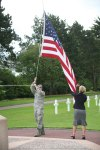Lowering The Flag