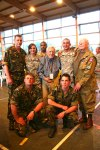veterans with serving soldiers